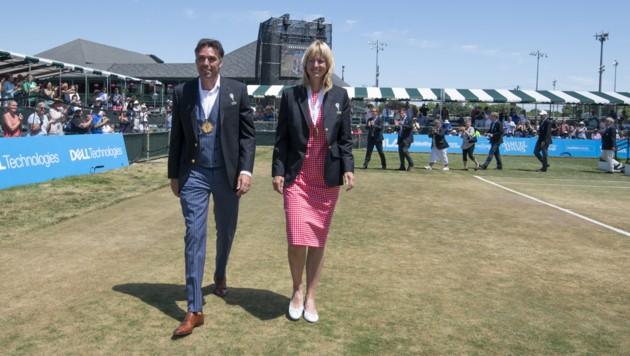 """Juli 2018: Michael Stich und Helena Sukova werden in die """"Hall of Fame"""" des Tennis aufgenommen. (Bild: APA/AFP/GETTY IMAGES/Michael J. Ivins)"""