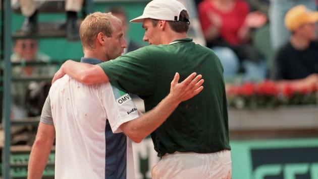 French Open 1996: Michael Stich eliminiert Titelverteidiger Thomas Muster im Achtelfinale. (Bild: AFP)