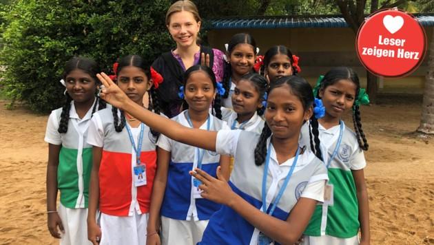 Miriam Buchsteiner gibt in Indien Englisch-Unterricht (Bild: Buchsteiner)