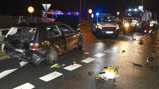 Der Angeklagte fuhr ins Heck des italienischen Pkw (Bild: Zeitungsfoto.at)