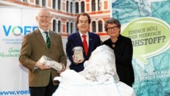 Roland Pomberger, Hans Roth, Daniela Müller-Mezin (v. li.) (Bild: Erwin Scheriau)