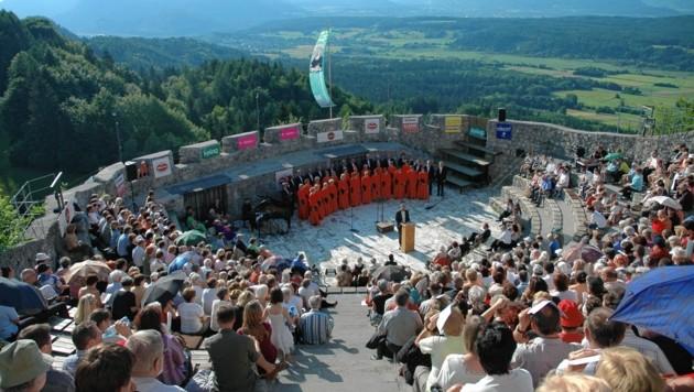 Konzert in der Burgruine Finkenstein. (Bild: Burgarena Finkenstein)