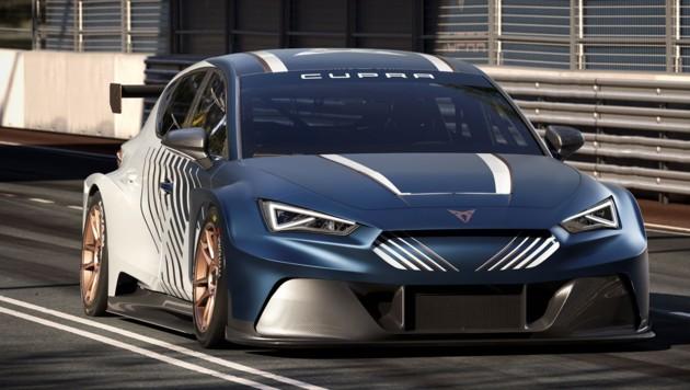 Der Cupra E-Racer ist für die ETCR-Meisterschaft konzipiert. (Bild: Cupra)