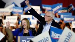 Bernie Sanders festigte mit dem Sieg bei den Vorwahlen in Nevada seine Position als demokratischer Spitzenreiter für die US-Präsidentschaftswahl. (Bild: AP)