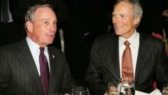 US-Schauspieler Clint Eastwood und Medienmilliardär Michael Bloomberg (Bild: 2007 Getty Images)