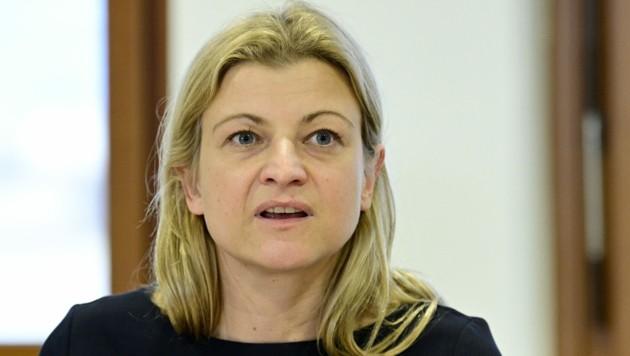 Barbara Teiber, Vorsitzende der Gewerkschaft der Privatangestellten (GPA) (Bild: APA/HANS PUNZ)