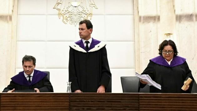 Verfassungsgerichtshof-Präsident Christoph Grabenwarter (Mitte) (Bild: APA/HANS PUNZ)
