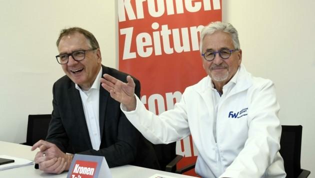 Matthias Krenn und Winfried Vescoli (re.) sprachen über die neue ÖGK und die WK-Wahlen.