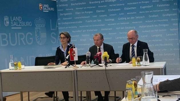 Beratungsgipfel in Salzburg zum Coronavirus. (Bild: Magdalena Mistlberger)