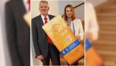 ÖGUSSA-Geschäftsführer Marcus Fasching mit Barbara Stöckl (Bild: Peter Tomschi)