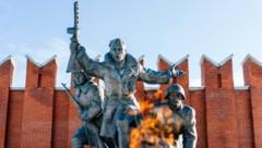 Eine Gedenkstätte des Zweiten Weltkriegs vor dem Heeresgeschichtlichen Museum in Moskau (Bild: APA/AFP/Dimitar DILKOFF)