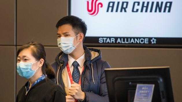 Die staatliche chinesische Airline streicht bis einschließlich 20. März alle Flüge Wien-Peking. (Bild: AFP)