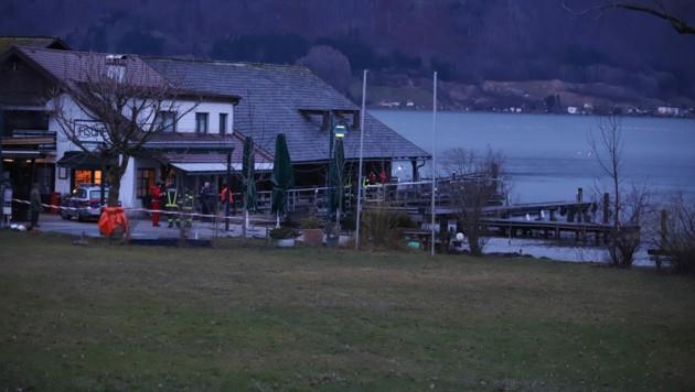 Hier fanden Feuerwehrleute die Leiche des vermissten Herbert H. (46) im Wasser treibend (Bild: laumat.at/Matthias Lauber)