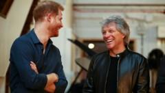 Prinz Harry, Jon Bon Jovi (Bild: AFP)