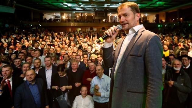 Großer Wahlsieger: Die Protestpartei Olano des Medienunternehmers Igor Matovic (46) (Bild: The Associated Press)