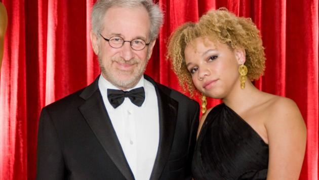 Steven Spielberg mit Tochter Mikaela (Bild: mptv / picturedesk.com)
