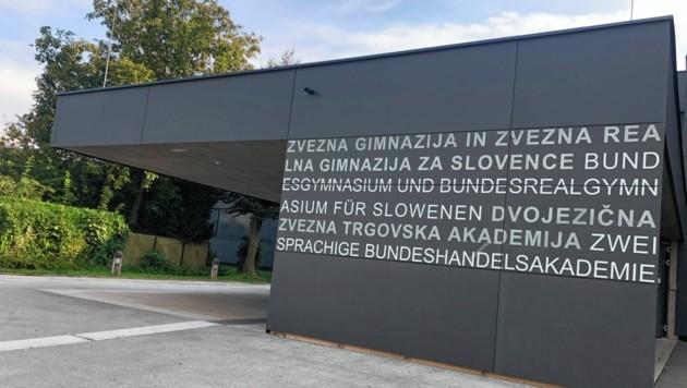 Das Slowenische Gymnasium in Klagenfurt. (Bild: Hronek Eveline)