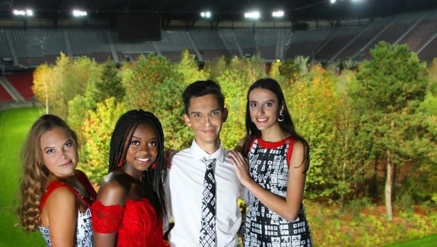 Umweltbewusste WIMO-Schüler zeigen Fashion for Future (Bild: WIMO Klagenfurt)