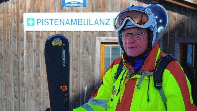 Der 81-jährige Pistenretter Herbert Essmann (Bild: Wallner Hannes)