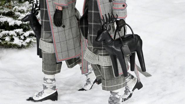 Bei seinen lustigen Handtaschen ließ Thom Browne fast kein Tier aus. (Bild: AFP)