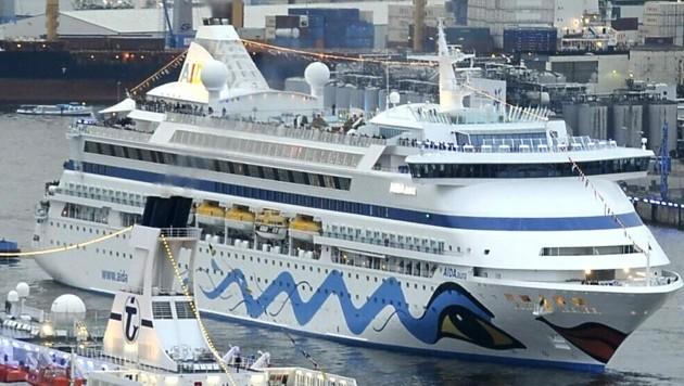Die Aida Aura auf einem Archivbild im Hamburger Hafen (Bild: AFP)