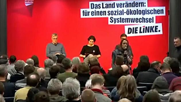 Bei einer Strategiekonferenz der deutschen Linken sprach eine Teilnehmerin davon, Reiche zu erschießen. (Bild: Screenshot/Instagram.com)