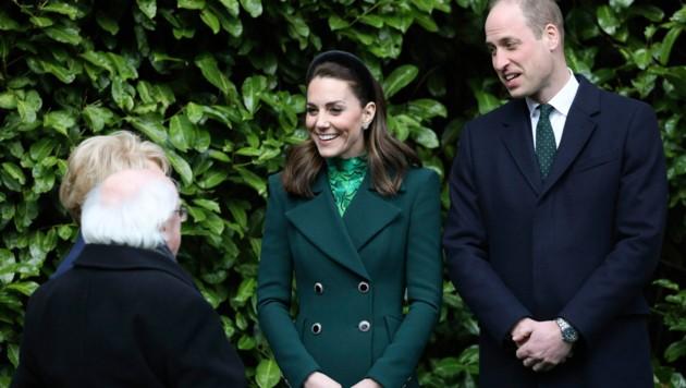 Herzogin Kate und Prinz William zu Besuch in Irland. (Bild: AP)