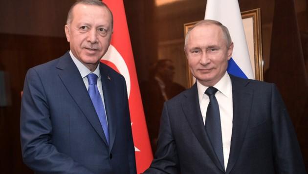 Recep Tayyip Erdogan und Wladimir Putin (Bild: AFP)