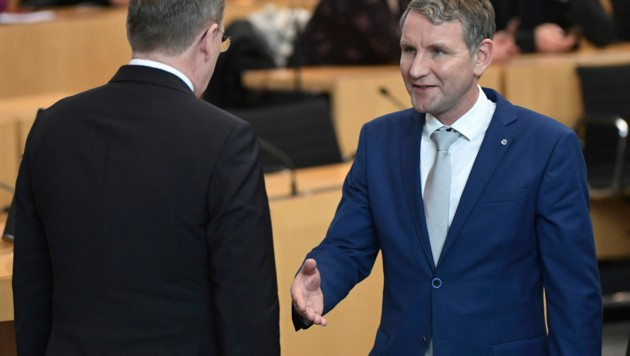 Bodo Ramelow verweigerte nach seiner Wiederwahl den Handschlag von Björn Höcke.