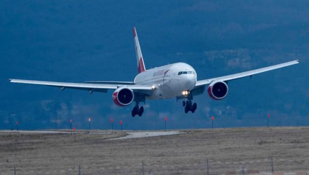 Im Landeanflug: Bei der AUA bleiben wegen der Corona-Krise 14 der insgesamt 82 Flugzeuge vorerst auf dem Boden. (Bild: AFP)