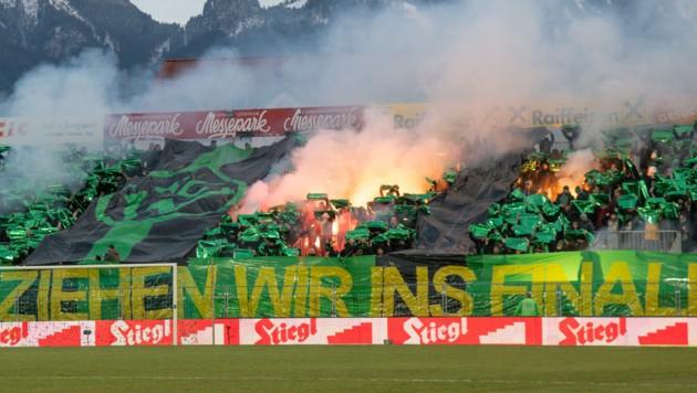 Fans von Wacker Innsbruck (Bild: GEPA)