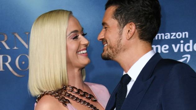 Katy Perry und Orlando Bloom (Bild: AFP)