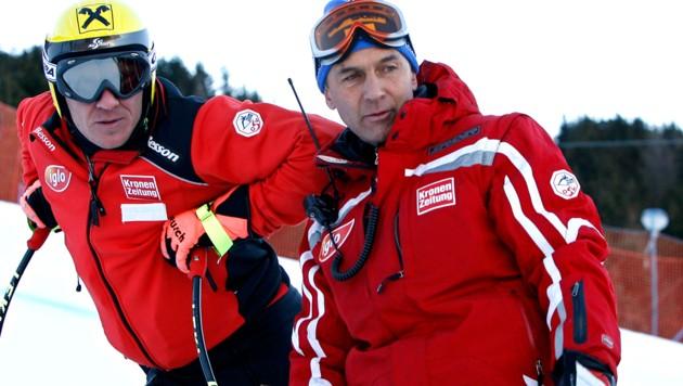 Hermann Maier und Walter Hubmann (re.) (Bild: GEPA)