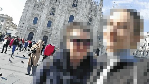 Anna A. und ihre Tochter Brigitte (re.) bei ihrem folgenschweren Kurzurlaub in Mailand (Bild: zVg)