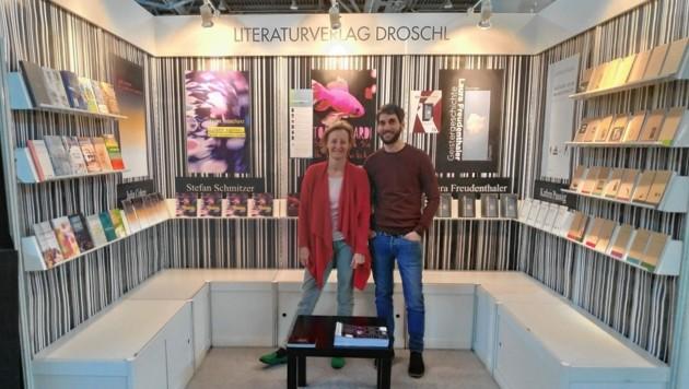 Annette Knoch und Christopher Heil vom Grazer Droschl Verlag müssen heuer ohne die Leipziger Buchmesse auskommen. (Bild: Droschl Verlag)