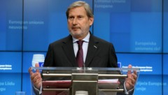 EU-Budgetkommissar Johannes Hahn (Bild: AFP)