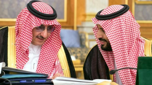 Mohammed bin Nayef (l) und Mohammed bin Salman im Jahr 2016. (Bild: AFP)
