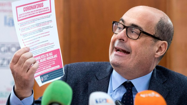 Der Chef der DP, Nicola Zingaretti, ist mit dem Coronavirus infiziert. (Bild: AP)