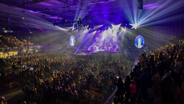 Die Hits von Andrea Berg brachten die Olympiahalle in Innsbruck zum Brodeln. (Bild: Hubert Berger)