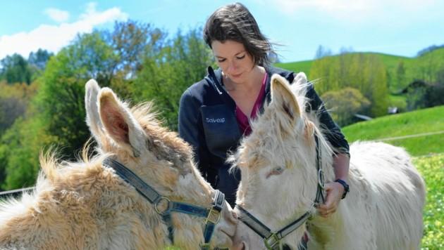 Solveig Thurnes (30) ist Bäuerin in Serfaus und Mutter von drei Kindern. (Bild: Rainer Schilling)
