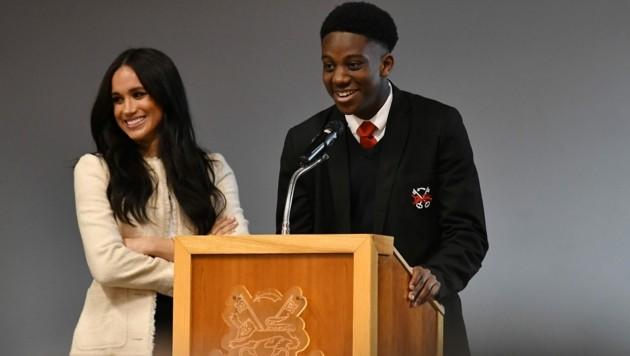 Herzogin Meghan besuchte die Robert Clack School in Essex. (Bild: AFP)
