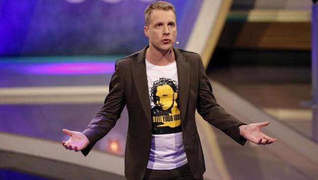 "Oliver Pocher in der RTL-Live-Show ""Pocher vs. Wendler - Schluss mit lustig!"" (Bild: Christoph Hardt / Action Press / picturedesk.com)"