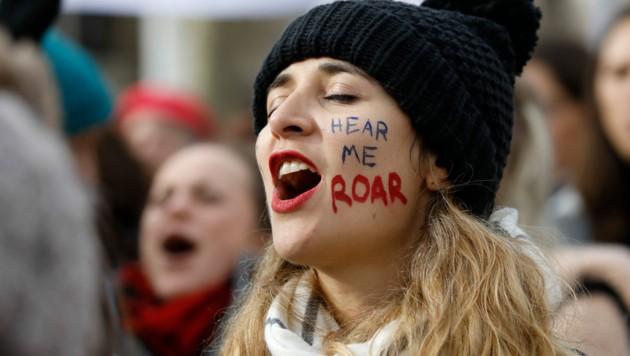 Frauen weltweit fordern mehr Rechte. (Bild: AFP)