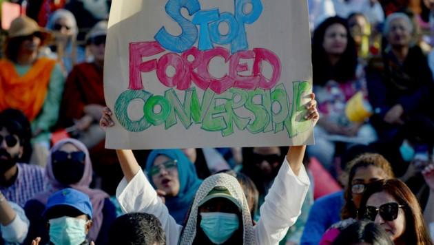 Proteste in Pakistan (Bild: AFP)