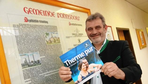 Gernot Lobnig (SPÖ) hat Fohnsdorf eine Imagepolitur verpasst - und will die Stadt weiter voranbringen. (Bild: Christian Jauschowetz)