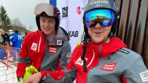 Gold und Silber für den ÖSV im Super G: Stefan Rieser vom WSV Dorgastein (re.) siegte im Super G vor Armin Armin Dornauer aus Tirol. (Bild: Jan-Arne Pettersen/narvik2020.no)