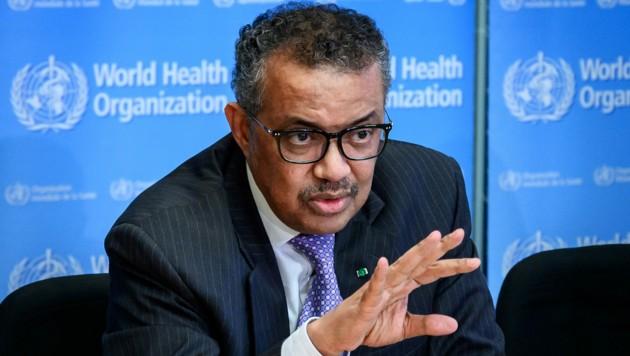 """WHO-Chef Tedros Adhanom Ghebreyesus warnte zuletzt vor einer """"Politisierung der Debatte"""", die von der Bekämpfung des Virus ablenke. Nun musste man einen neuen Rekordanstieg vermelden."""