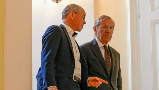 Landesvize Christian Stöckl mit Landeshauptmann Wilfried Haslauer (beide ÖVP) (Bild: Markus Tschepp)