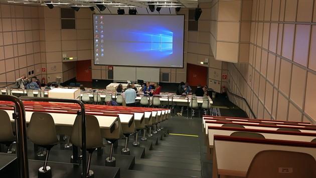 Studenten in einem leeren Hörsaal (Bild: Leserreporter)