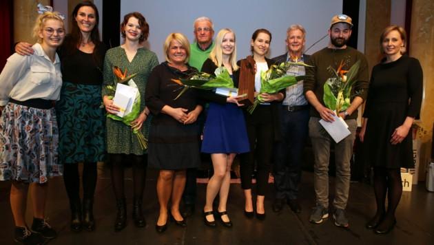 Bruno Gironcoli Förderpreis: Verleihung im Bamberg-Saal in Villach (Bild: Stadt Villach/ Oskar Höher)